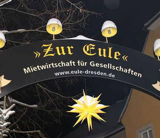 Beispiel: Willkommensschild, Foto: Mietwirtschaft Zur Eule.
