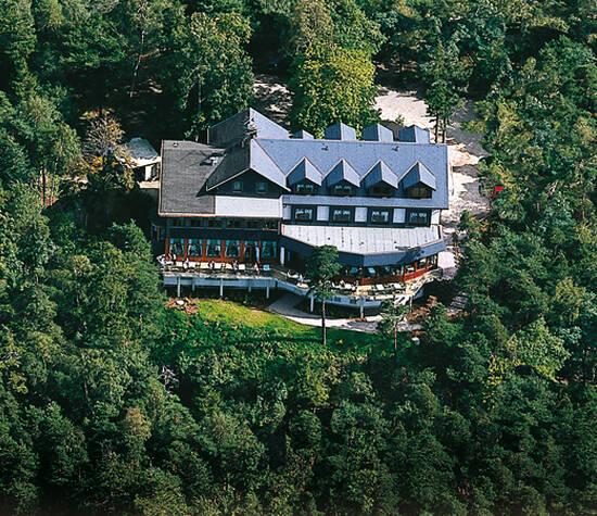 Beispiel: Luftbild Hotel, Foto: Berghotel Augustusberg.
