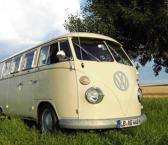 Beispiel: VW T1 Bus, Foto: Rent My Classic Car.