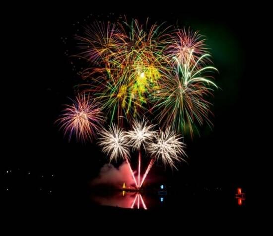 Beispiel eines größeren Feuerwerks