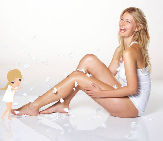 Beispiel: Waxing und Sugaring, Foto: Senzera - professional waxing.