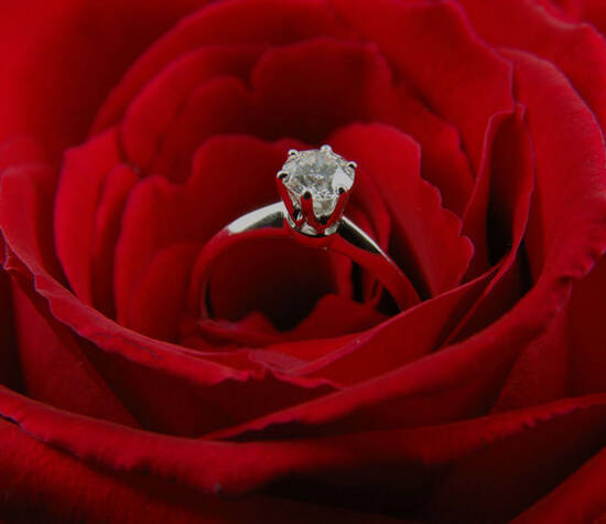 Beispiel: Verlobungsringe, Foto: RINGKÖNIG.