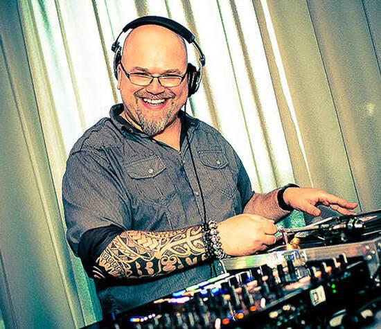 DJ Robert James Perkins with Vinyl