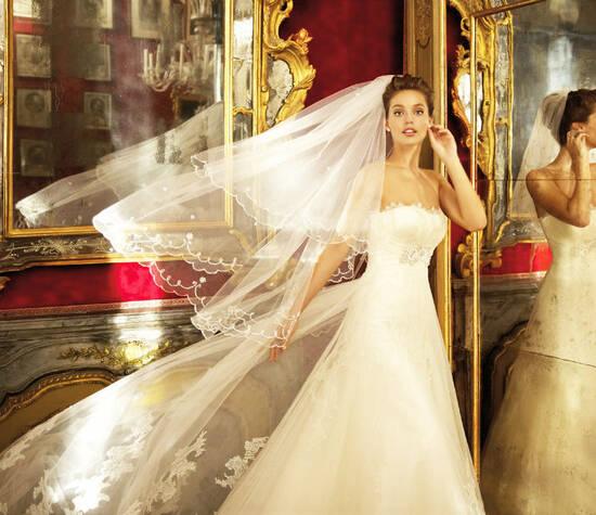 Beispiel: Brautkleid von Pronovias, Foto: Brautmode an der Prinzenstraße.