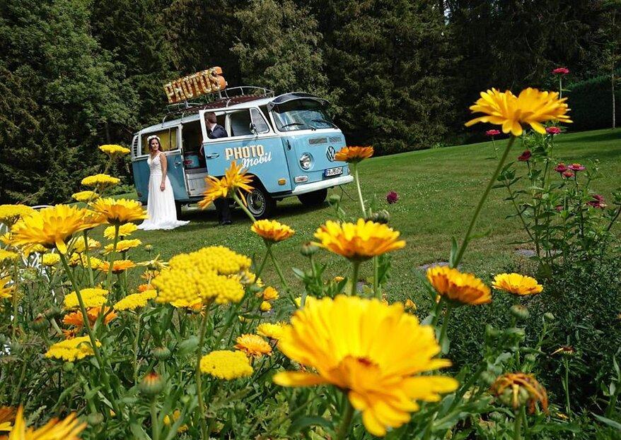 Fotobox auf Rädern - Coole Hochzeitserinnerungen aus einem VW-Bulli!