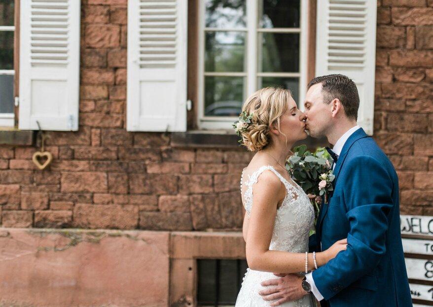 Die Traumhochzeit von Sarah & Marcel in Langenselbold – Wenn Hochzeitsfotografen vor den Traualtar treten