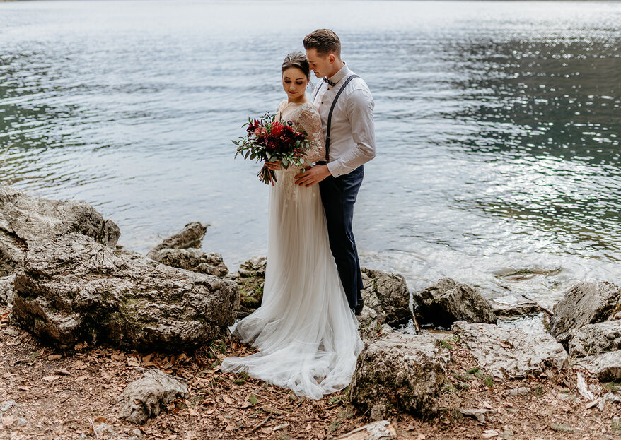 Pure Nature – Romantisches Styled Shooting am See in Berchtesgaden