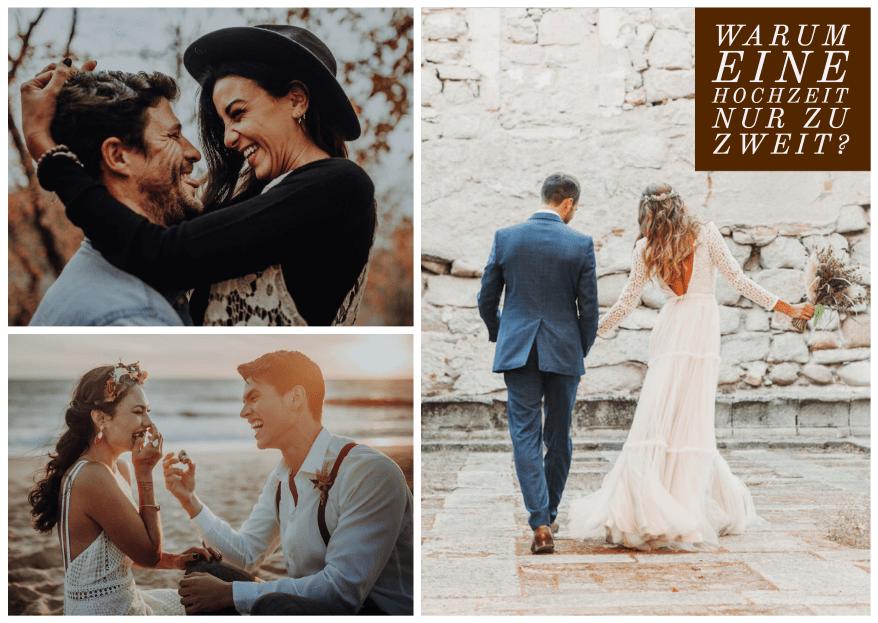 Warum eine Hochzeit nur zu zweit? 7 Gründe, die dafür sprechen!