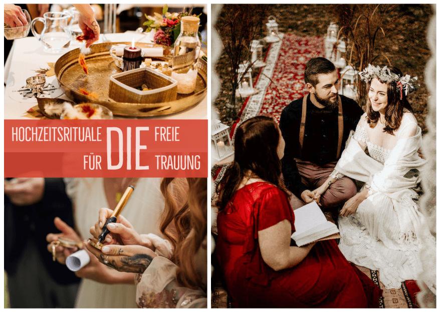 Hochzeitsrituale: klassische und individuelle Rituale für die freie Trauung