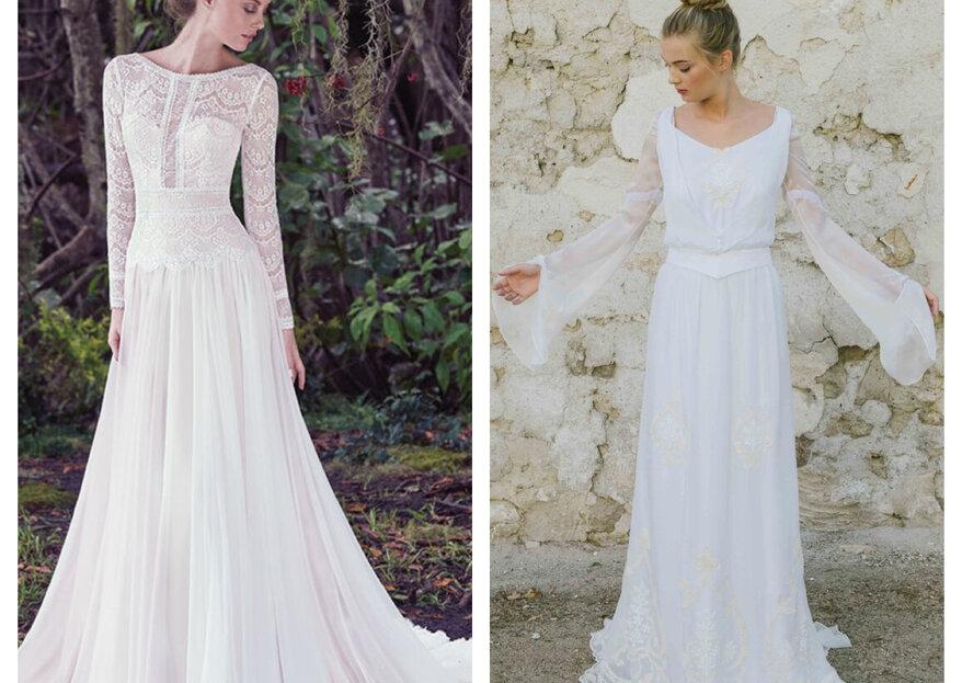 6 Arten von Langarm-Brautkleidern für Ihre Herbst- oder Winterhochzeit!