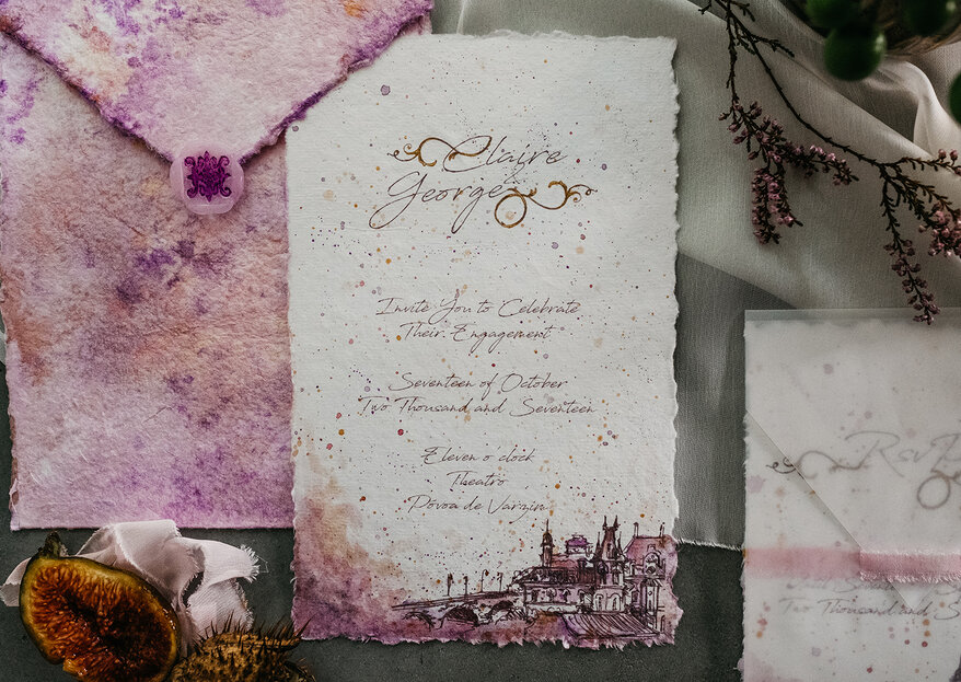 Luxuriöse Hochzeitseinladungen: laden Sie Ihre Gäste mit Eleganz und Raffinesse ein!