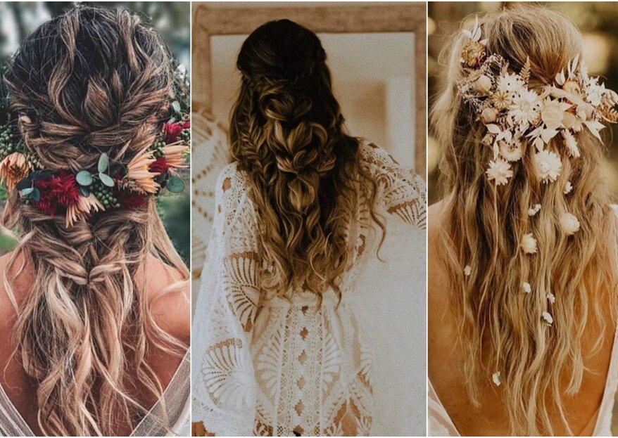 Traumhafte Boho-Frisuren für Ihre Hochzeit: Welche Boho-Brautfrisur passt am besten zu Ihnen?