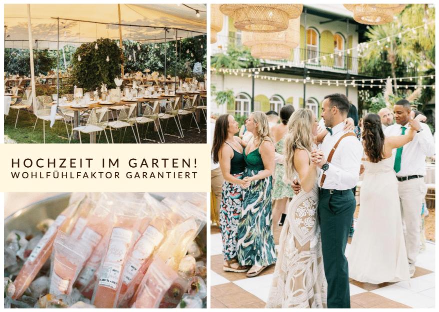 Hochzeit im Garten feiern: großes Potential mit Persönlichkeitsfaktor!