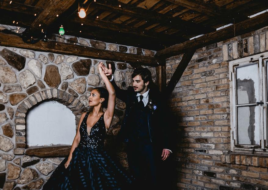 """Glamourös und elegant im """"Moody Glamour""""-Styled Shoot: eine Hochzeit der anderen Art!"""