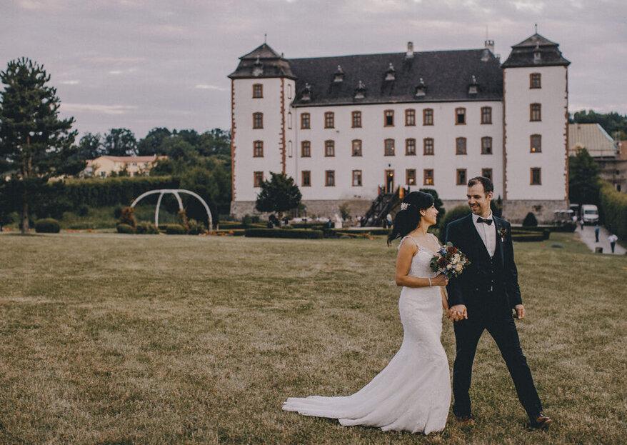 Fürstlich heiraten in den schönsten Burgen, Schlössern und Abteien in Bayern