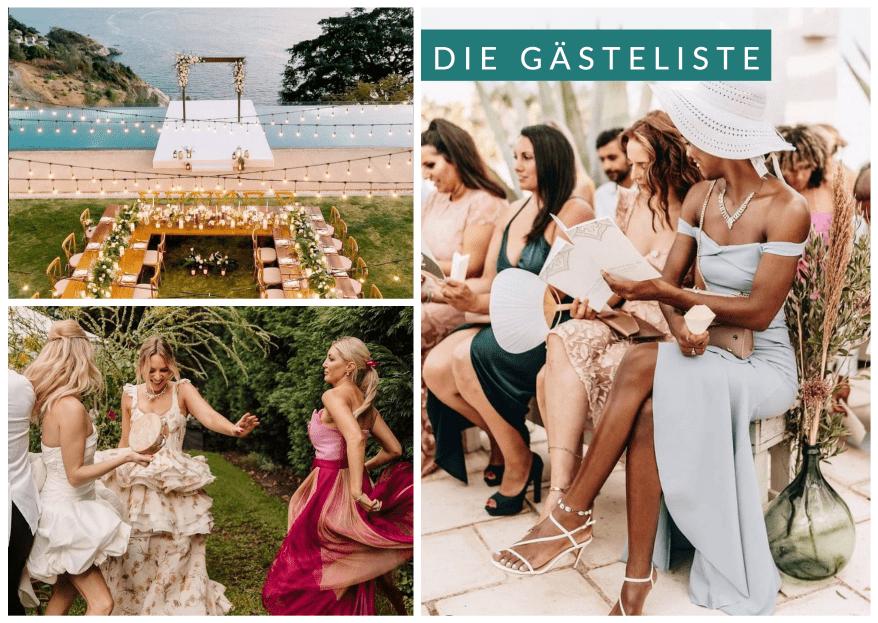 Die Gästeliste zur Hochzeit: alles was Ihr darüber wissen müsst!