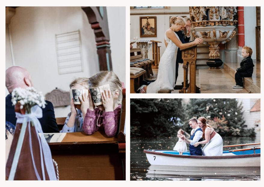 Süß, frech & fotogen: Die schönsten Hochzeitsfotos mit Kindern