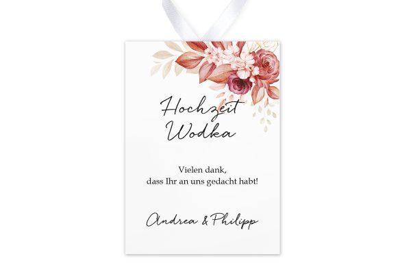 Aufkleber und Anhänger Hochzeit Minimalistischer Kranz Rosa Eleganz Aufkleber & Etiketten Hochzeit