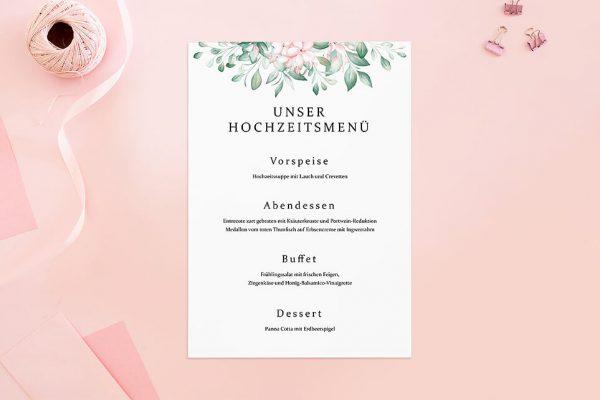 Extras Rosenpracht Kunstvoll Menükarten