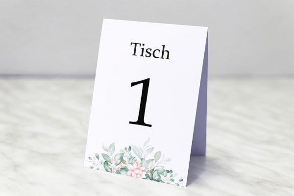 Extras Rosenpracht Kunstvoll Tischnummern