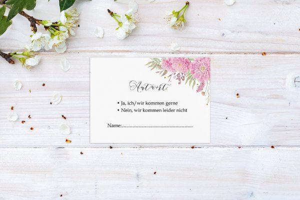 Antwortkarten zur Hochzeit Laubfall Unbeschwert Antwortkarten