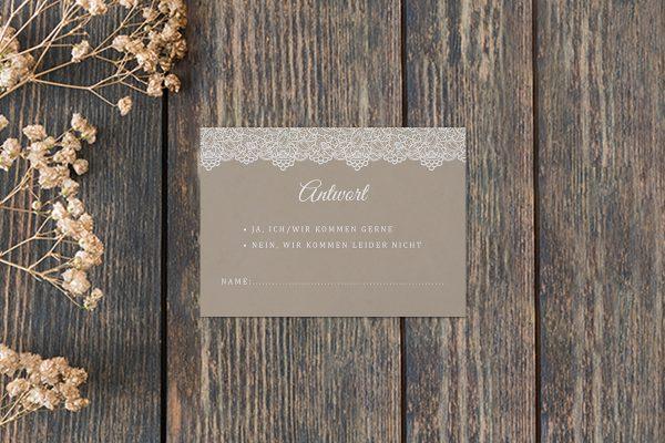 Antwortkarten zur Hochzeit Spitzentraum Vintage moon Antwortkarten