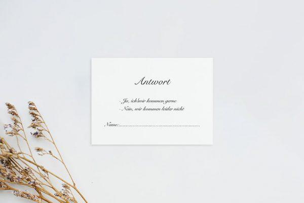 Antwortkarten zur Hochzeit Kalligraphie Elegant geschrieben Antwortkarten