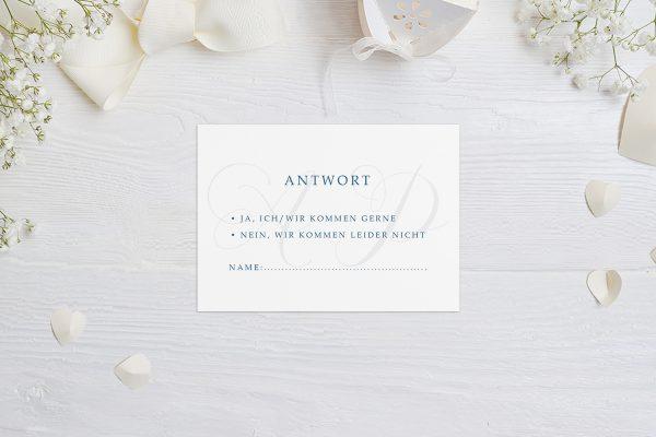 Antwortkarten zur Hochzeit Klassich Lässig Antwortkarten