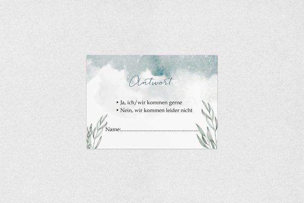 Antwortkarten zur Hochzeit Palmen verträumt Antwortkarten