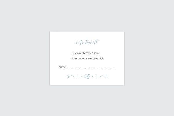 Antwortkarten zur Hochzeit Tender Love  Rings of Love Antwortkarten
