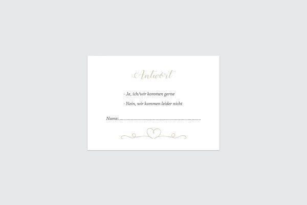 Antwortkarten zur Hochzeit Tender Love  Liebe Antwortkarten