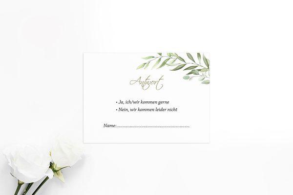 Antwortkarten zur Hochzeit Zeichnung Gemalt Antwortkarten