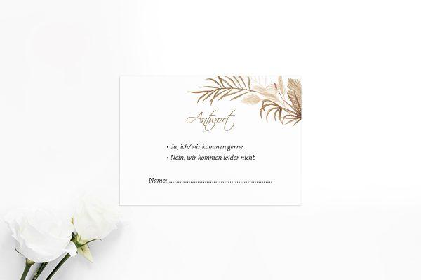 Antwortkarten zur Hochzeit Zeichnung Ausgefallen Antwortkarten