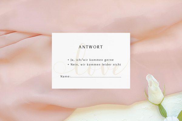 Antwortkarten zur Hochzeit Horizont Unbegrenzt Antwortkarten