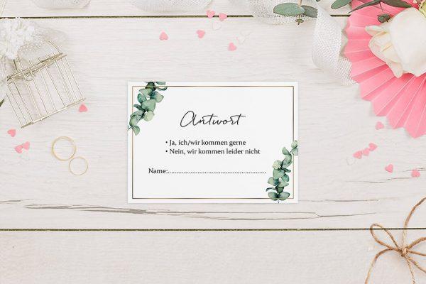 Antwortkarten zur Hochzeit Floral Elegant Romantisch Antwortkarten