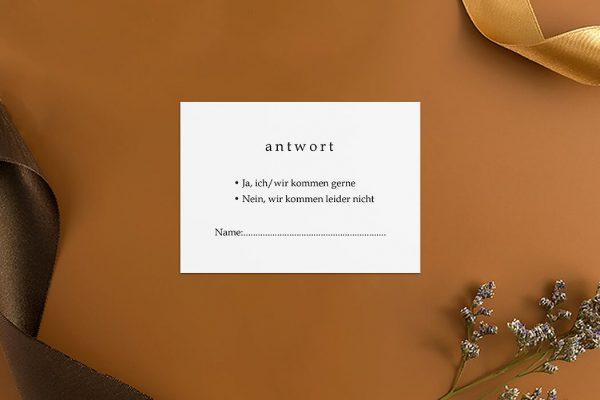 Antwortkarten zur Hochzeit Modern Monogramm Schild Antwortkarten