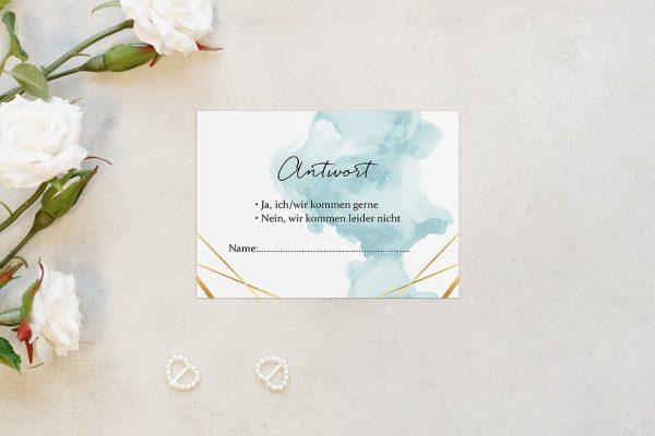 Antwortkarten zur Hochzeit Himmel Strahlend Antwortkarten