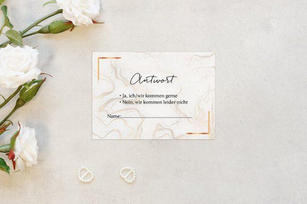 Antwortkarten zur Hochzeit Batik Marmor Antwortkarten