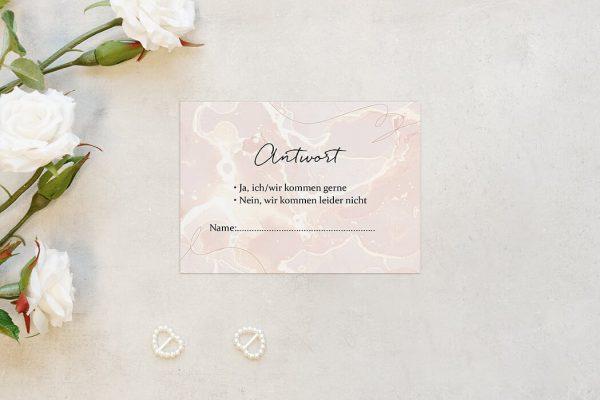 Antwortkarten zur Hochzeit Aprikosen Explosion Schick Antwortkarten
