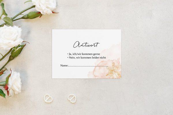Antwortkarten zur Hochzeit Aprikosen Explosion Edel Antwortkarten