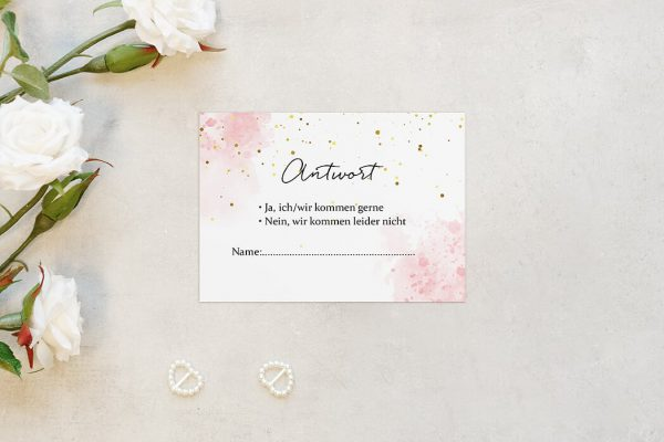Antwortkarten zur Hochzeit Morgenröte Unbeschwert Antwortkarten