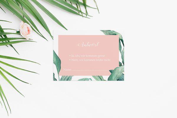 Antwortkarten zur Hochzeit Tropical Topisch wild Antwortkarten