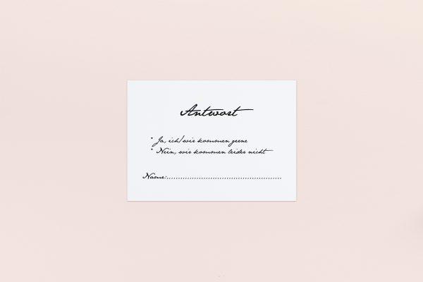 Antwortkarten zur Hochzeit Minimalistisch Smooth Jazz Antwortkarten