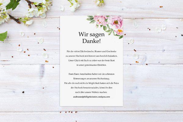 Dankeskarten zur Hochzeit Laubfall Spielerisch Dankeskarten