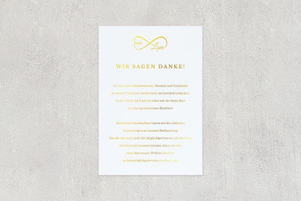Dankeskarten zur Hochzeit Herzensangelegenheit unendlich Dankeskarten
