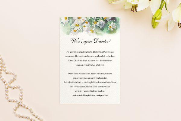 Dankeskarten zur Hochzeit Aquarell Rustikal Dankeskarten