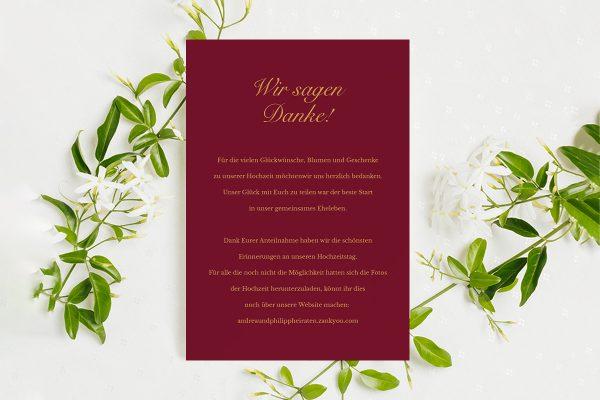 Dankeskarten zur Hochzeit Fotoglam Forever  Dankeskarten