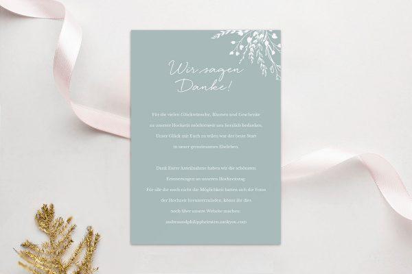 Dankeskarten zur Hochzeit Runde Sache zart Dankeskarten