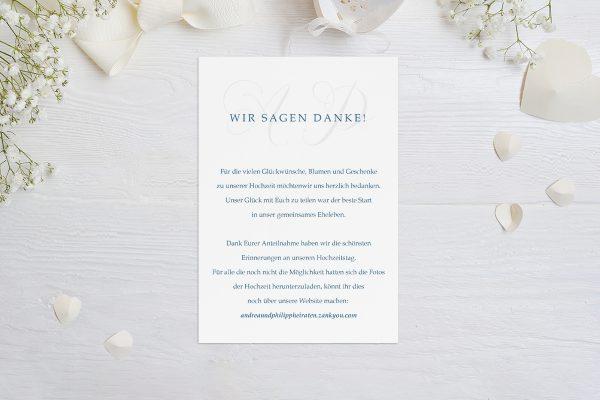 Dankeskarten zur Hochzeit Klassich Lässig Dankeskarten