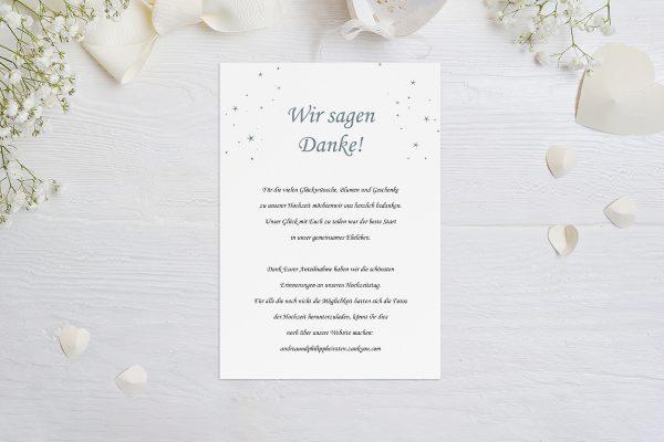 Dankeskarten zur Hochzeit Klassich Natürlich Dankeskarten